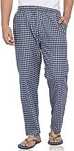Fflirtygo Mens Pyjama Bottoms, 100% Cotton Export Quality Fabric, Blue Check Pyjama for Men, Men's Leisure Wear, Night Wear Pajama
