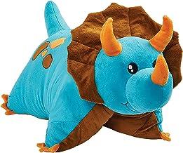 "Pillow Pets Triceratops Blue Dinosaur, 18"" Stuffed Animal Plush Toy"