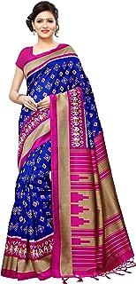 Art Decor Sarees Women's Mysore Silk Printed Saree with Tassels Border