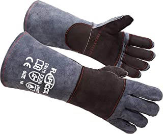 long sleeve leather work gloves