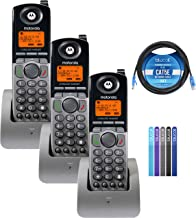 $186 » Motorola ML1200 DECT 6.0 Expandable 4-Line Cordless Handsets with Digital Receptionist and Voicemail (3-Pack) Bundle with ...