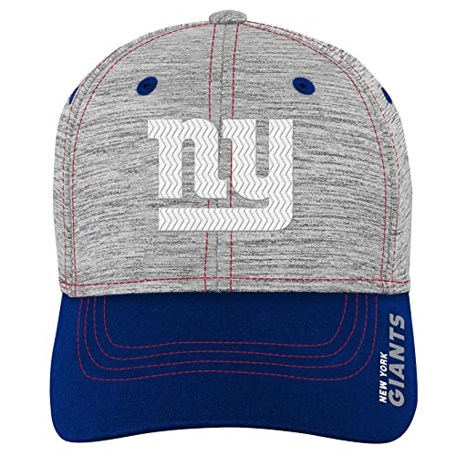 96fadf6c95e8a NFL by Outerstuff NFL New York Giants Youth Boys Velocity Structured Flex  Hat Heather Grey