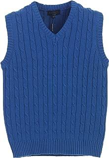 Gioberti Boy's 100% Cotton Soft V-Neck Cable Knit Sweater Vest
