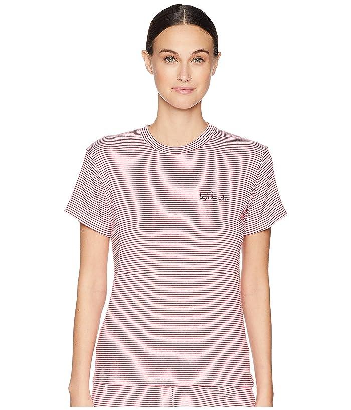 Maison Du Soir Toute De Suite Tee (Red Stripe) Women's T Shirt