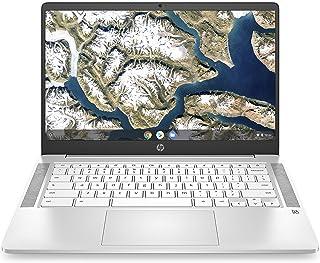 HP Chromebook 14-inch HD Laptop, Intel Celeron N4000, 4 GB RAM, 32 GB eMMC, Chrome (14a-na0020nr, Ceramic White)