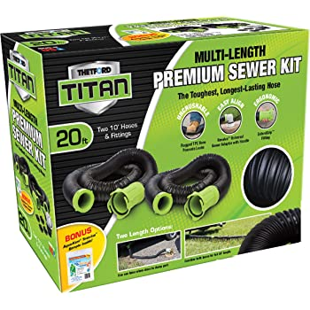 Titan 20 Foot Premium RV Sewer Hose Kit - Thetford 17902