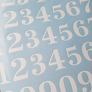 Classic Style Die Cut Vinyl Numbers (2 inch, Matte White)