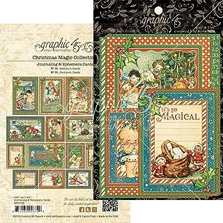 Graphic 45 4501739 Christmas Magic Ephemera Craft Paper, Multi