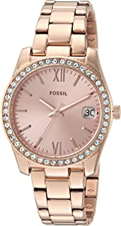 Fossil Scarlette Rose Gold Stainless Steel Watch ES4318