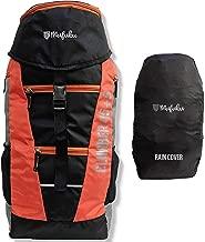 Mufubu Presents Climber 45 + 5 LTR Rucksack for Hiking, Trekking Travel Backpack with Rain Cover (Black/Orange)