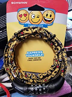 Schwinn Emoticon Fabric Cable Combo Lock