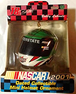 NASCAR Bobby Labonte #18 2001 Dated Collectible Mini Helmet Ornament Interstate Batteries
