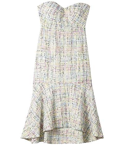 Sam Edelman Strapless Sweetheart Midi Dress (Ivory Multi) Women