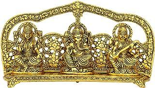 CraftVatika Goddess Laxmi Ganesha Saraswati Idol - Lakshmi Ganesh Saraswati Murti - Decorative Item - Showpiece Idols Stat...