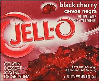 JELL-O Black Cherry Gelatin Dessert Mix (6 oz Boxes, Pack of 6)