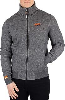 Superdry Men's Orange Label Track Jacket, Grey