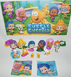 Bubble Guppies Deluxe Figure Set of 15 Toy Kit with Stickers, ToyRing and 12 Figures Featuring Gil, Oona, Goby, Bubble Puppy, Baby Guppies and Many More!