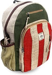 Made In Nepal Handmade Natural Hemp Backpack Bag,Laptop sleeve Multi Pocket