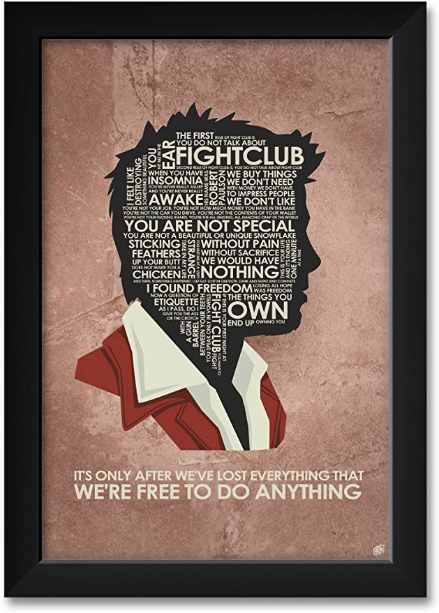 Amazon Com Fight Club It S Only After We Ve Lost Everything Giclee Art Print Poster From Typography Drawing By Pop Artist Stephen P 30 X 45 Posters Prints