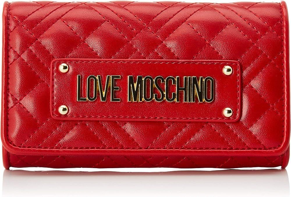 Love moschino portafoglio per donna porta carte di credito in pelle sintetica JC5623PP0A