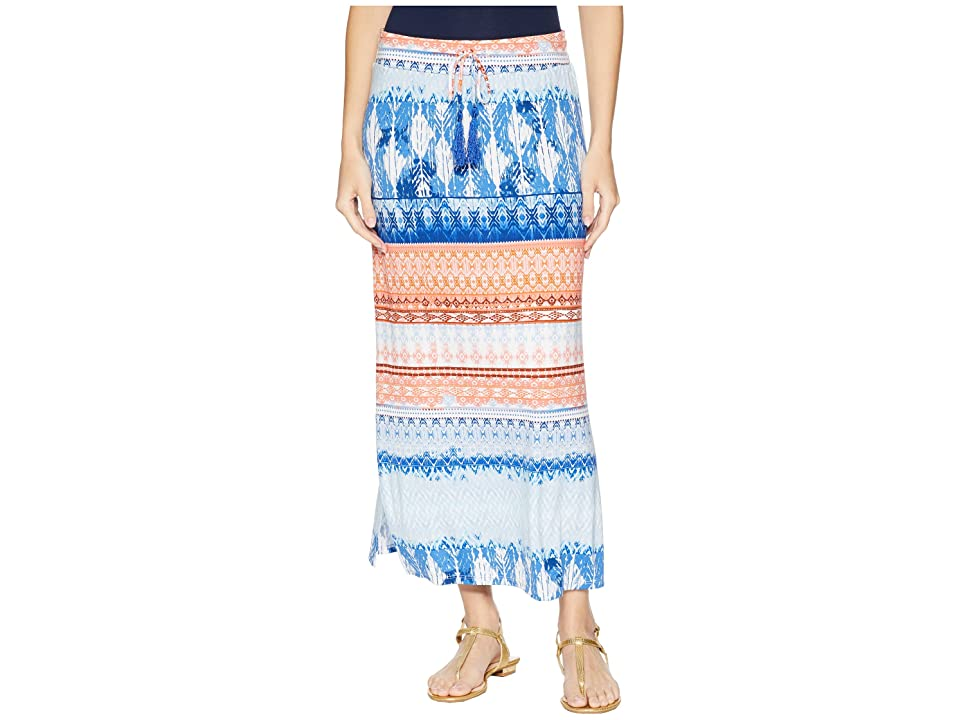 Tribal 35 Printed Jersey Long Skirt with Drawstring in Blue Wave (Blue Wave) Women