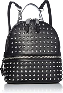 cute black leather backpack