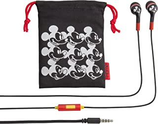 Mickey Mouse Noise Isolating Earbuds with Built in Microphone and Pouch