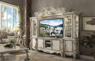 ACME Versailles Bone White Entertainment Center with TV Stand