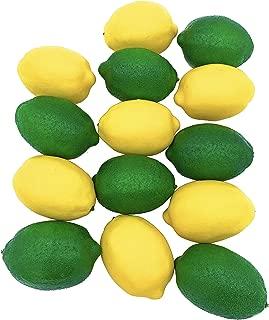 Dasksha Lifelike Artificial Lemons and Limes - 14PCS - Large - 7 Fake Limes and 7 Fake Lemons - Realistic Fake Fruits for Decoration