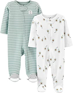 Baby 2-Pack 2-Way Zip Thermal Footed Sleep and Play