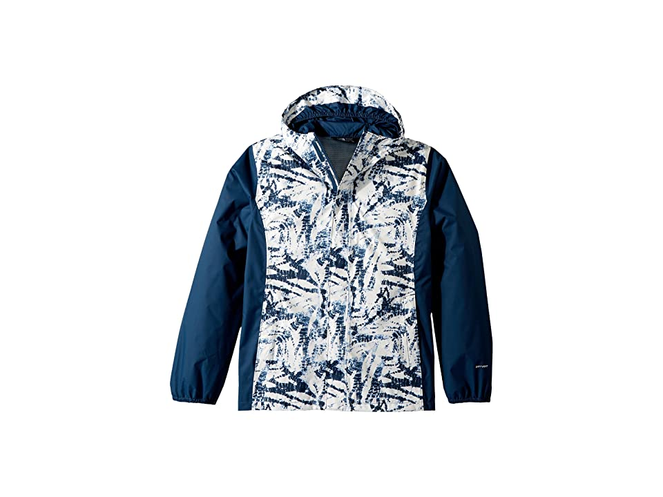 The North Face Kids Resolve Reflective Jacket (Little Kids/Big Kids) (Blue Wing Teal Fern Print) Girl