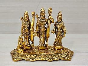 GiftNagri Lord Ram Darbar Idol Metal Showpiece Hindu Religious Idols Ram Sita Laxman Hanuman Murti Puja Diwali Decoration ...