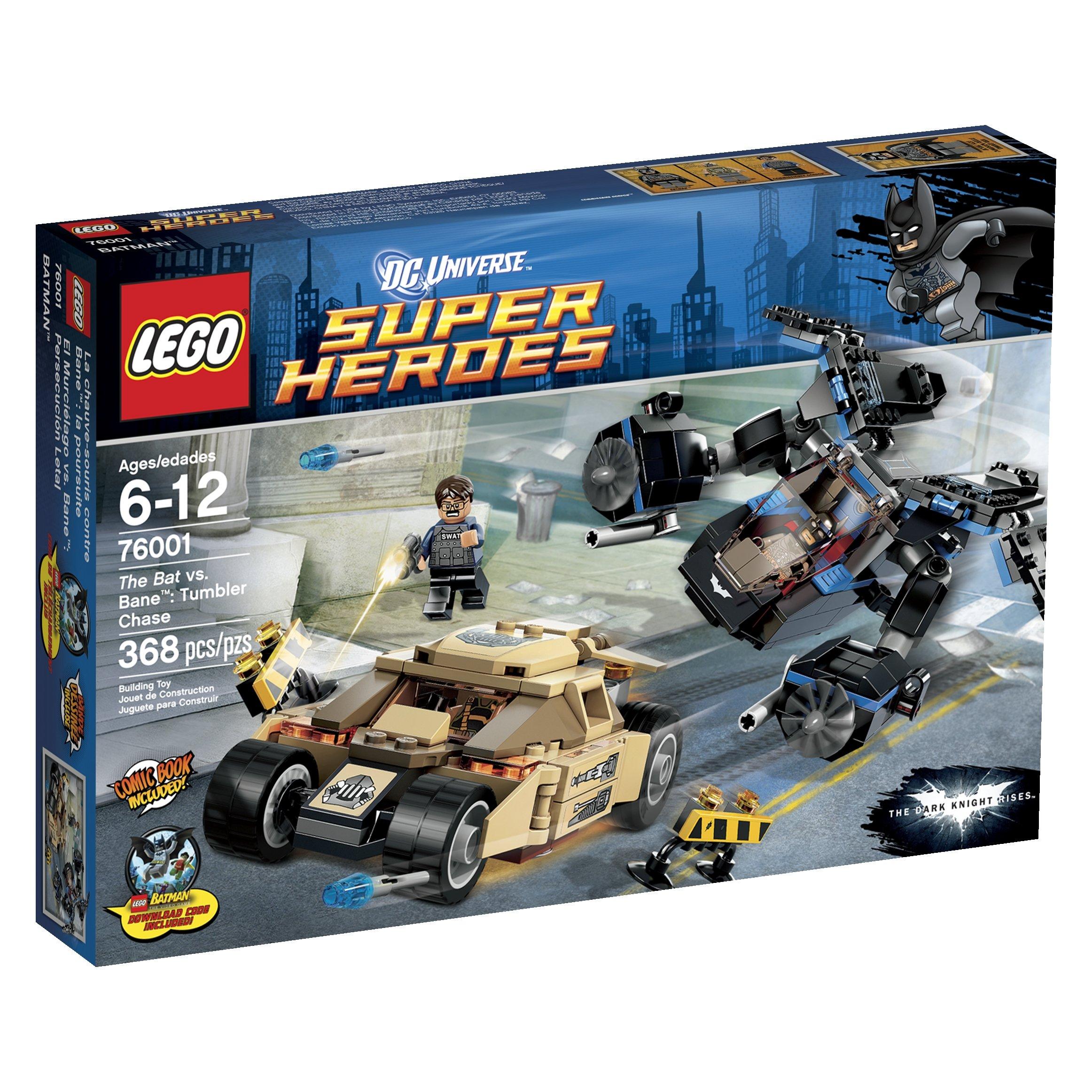 LEGO Custom MOD DC Batman Dark Knight Tumbler Batmobile matches set 76001 BIN