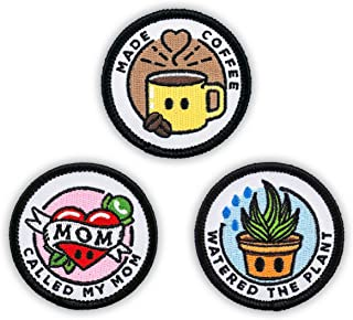 Winks For Days Adulting Merit Badge Embroidered Iron-On Patches (Responsibilities - Set 1)