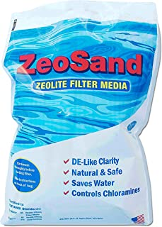 ZeoSand Swimming Pool Sand Replacement, Alternative Filter Media, 50 Pounds