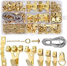DazSpirit Fotohaken, set van 250 stuks, met draad, D-ringen, oogschroefogen, tandhangers, stalen haken en spijkers voor th...