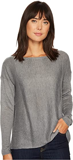 Boat Neck Sweater w/ Split Back