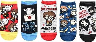 Kids Cute Chibi Art Hedwig 5 Pack Low Cut Socks