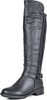 DREAM PAIRS Women`s Knee High Motorcycle Riding Winter Boots