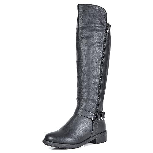 c1cf101a40dc1 DREAM PAIRS Women's Sunrider Knee High Winter Military Combat Boots