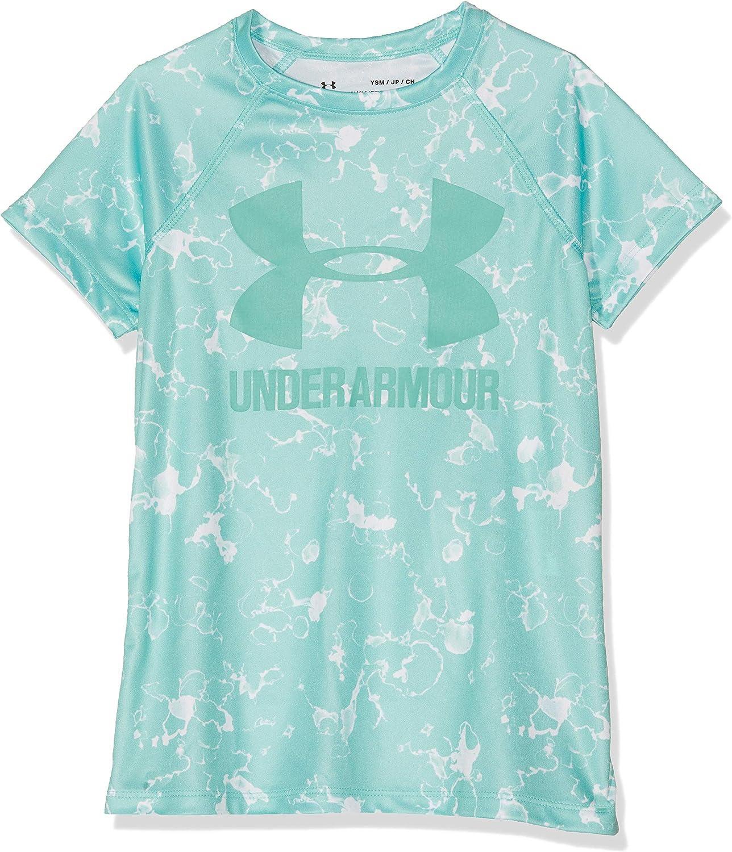 Under Armour Girls' Big Logo Novelty Shorts Sleeve T-Shirt