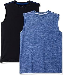 Amazon Essentials Boys' 2-Pack Active Muscle Tank Niños, Pack de 2