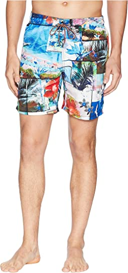 Paradise Collage Swim Trunk