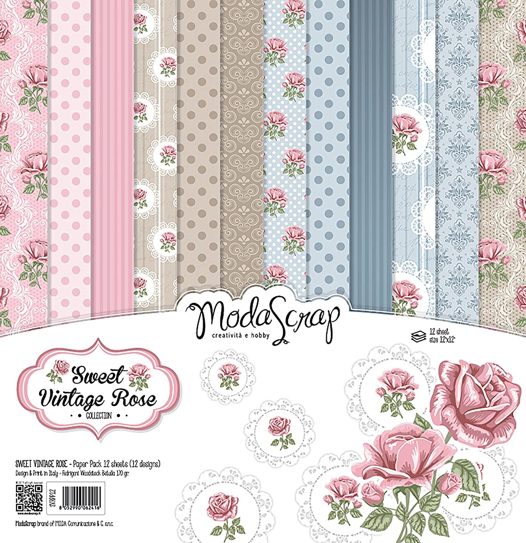 Elizabeth Craft Designs MSC12-18 Elizabeth Craft ModaScrap Paper Pack 12