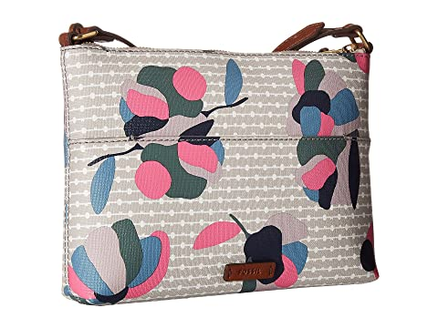 Buy Cheap Amazon Clearance Cheapest Price Fossil Fional Small Crossbody Floral Multi White Latest guYDMT