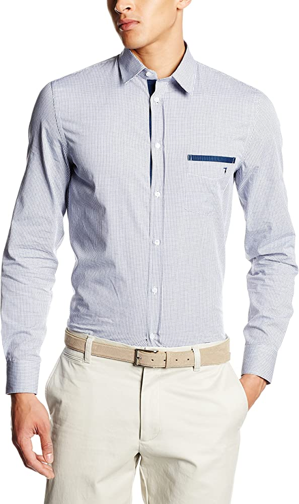 Trussardi jeans, camicia per uomo maniche lunghe, 100% cotone 52C5949