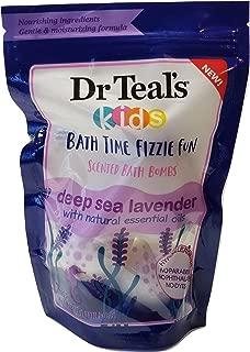 Dr Teal's Kids Bath Time Fizzie Fun Scented Bath Bombs Deep Sea Lavender Natural Essential Oils