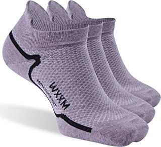 Athletic Merino Wool Cycling Socks, Unisex Anti-blister Light Breathable Thin No Show Liner Socks