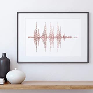 Liverpool Soundwave Print, You'll Never Walk Alone, Sounds of Anfield, Liverpool Posters