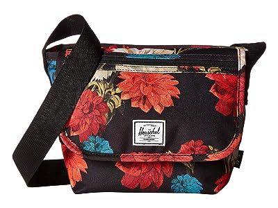Herschel Supply Co. Grade Mini (Vintage Floral Black) Messenger Bags